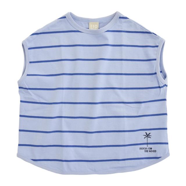 dil-DL20MS007_SS 先染めボーダー 半袖Tシャツ [SS.サックス] 【DILASH】【夏物】