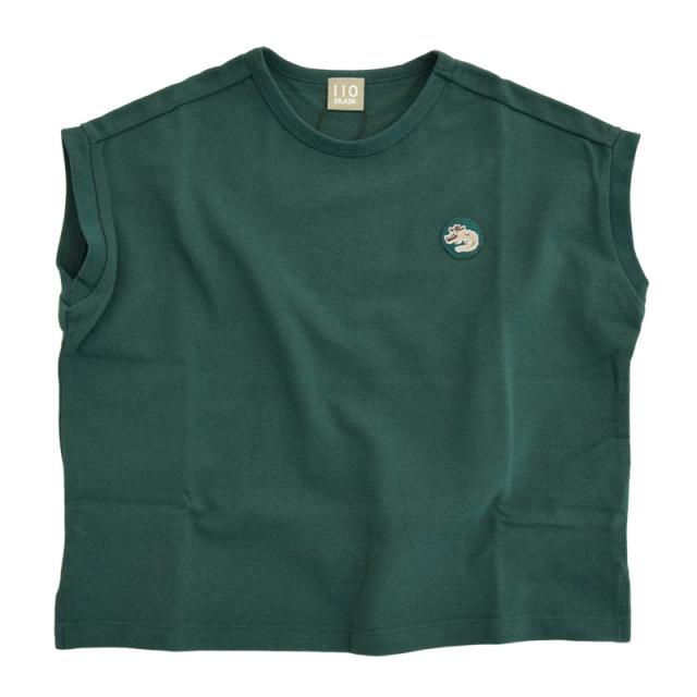 dil-DL20MS016_GN ワニ刺繍 カノコ半袖Tシャツ [GN.グリーン] 【DILASH】【夏物】