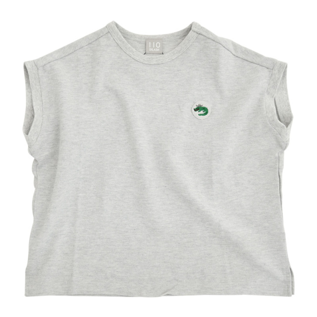 dil-DL20MS016_GY ワニ刺繍 カノコ半袖Tシャツ [GY.グレー] 【DILASH】【夏物】