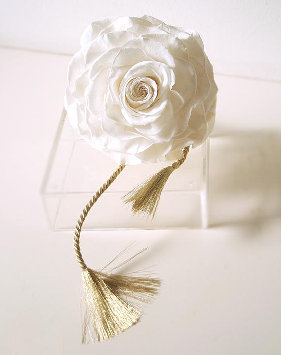 プリザーブドフラワー メリアブーケ #ホワイト・オールプリザ  ◆boq 送料無料 【出荷:7~10営業日】