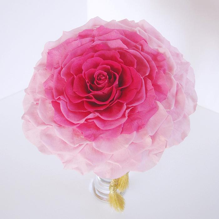 プリザーブドフラワー メリアブーケ #ピンク・オールプリザ  ◆boq 送料無料 【出荷:7~10営業日】