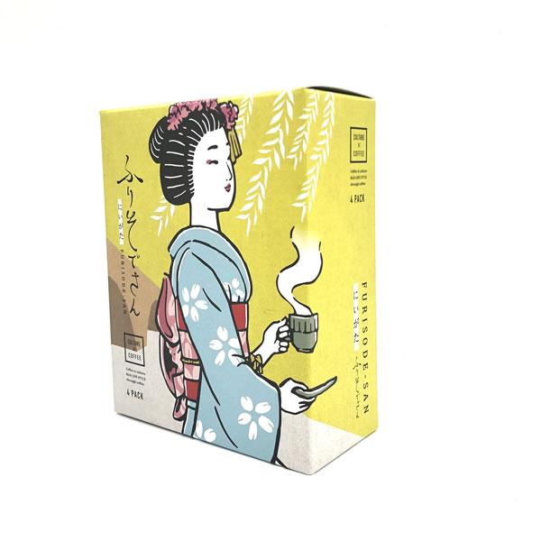 SUZUKI COFFEE 鈴木コーヒー 新発売!! 新潟古町芸妓 ドリップバッグ 「ふりそでさん」BOX Type [ 4Pack(10g×4) ]3