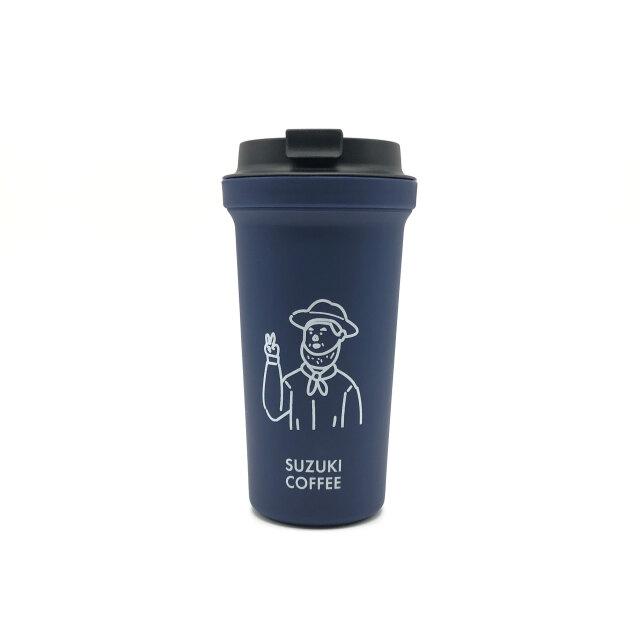 SUZUKI COFFEE 鈴木コーヒー 【RIVERSコラボ】THE LINCOLNタンブラー/PEACEver.(ネイビー)1