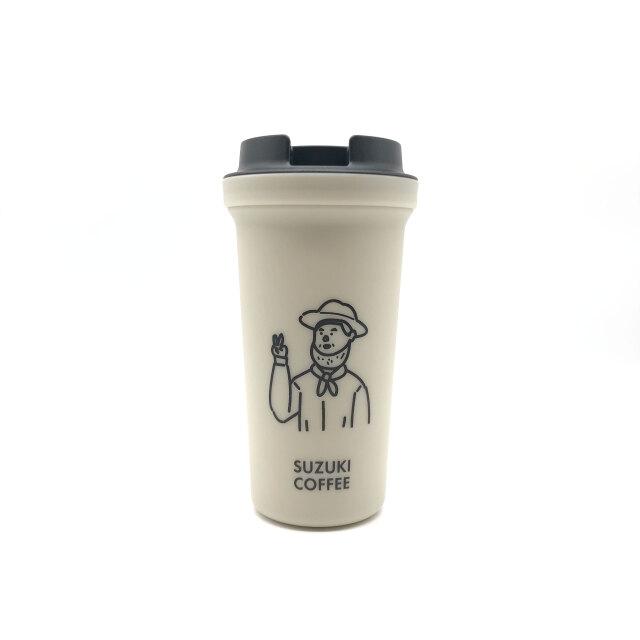 SUZUKI COFFEE 鈴木コーヒー 【RIVERSコラボ】THE LINCOLNタンブラー/PEACEver.(ベージュ)1