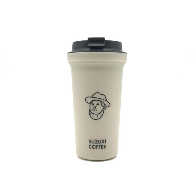 SUZUKI COFFEE 鈴木コーヒー 【RIVERSコラボ】THE LINCOLNタンブラー/FACEver.(ベージュ)1