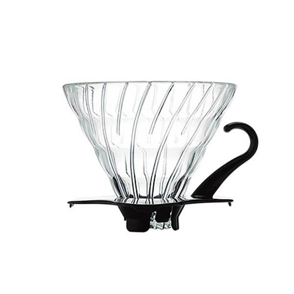 SUZUKI COFFEE 鈴木コーヒー HARIO V60耐熱ガラス透過ドリッパー02ブラック [VDG-02B]1