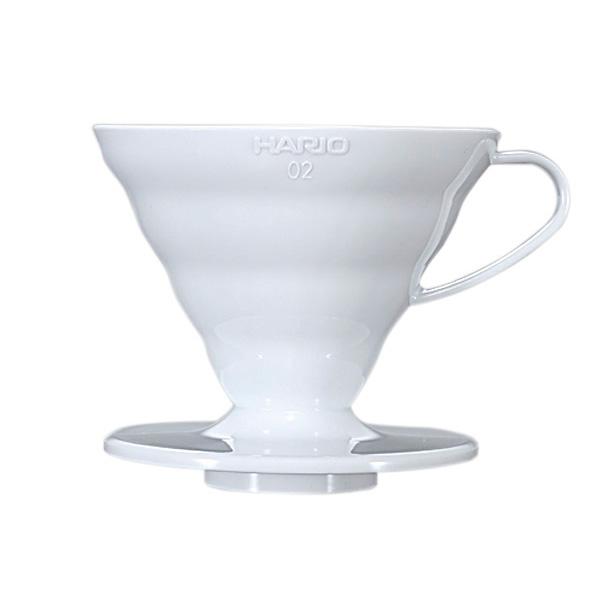 SUZUKI COFFEE 鈴木コーヒー HARIO V60透過ドリッパー02ホワイト [VD-02W]