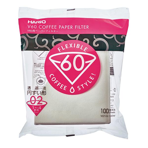 SUZUKI COFFEE 鈴木コーヒー HARIO V60用ペーパーフィルター02W [VCF-02-100W]1