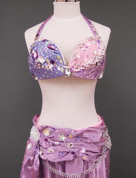 ピンクパープルベリーダンス衣装1 ミラーナ