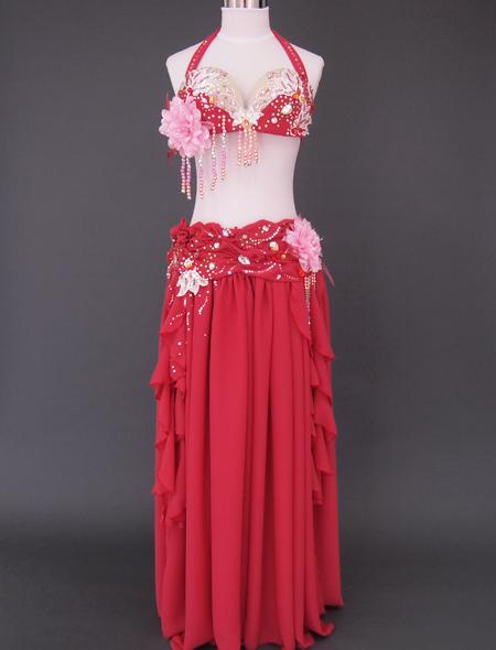 ピンクコサージュ ベリーダンス衣装1 ミラーナ