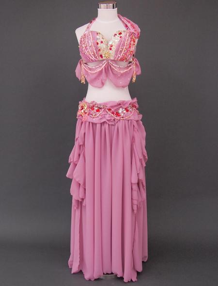ドレープピンクベリーダンス衣装 ミラーナ