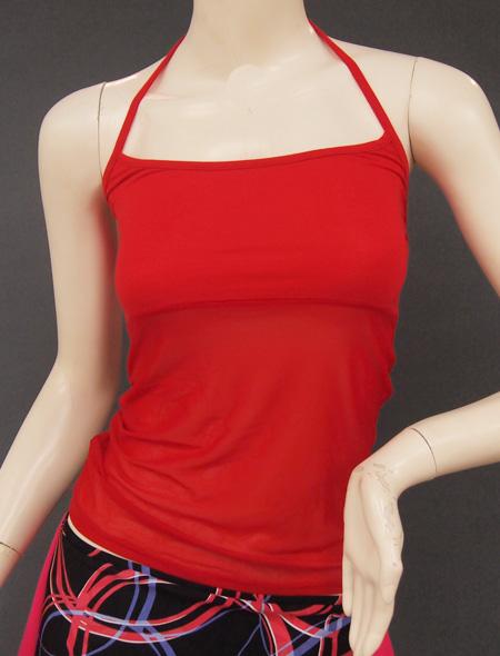 赤シースルーキャミ ミラーナベリーダンス衣装