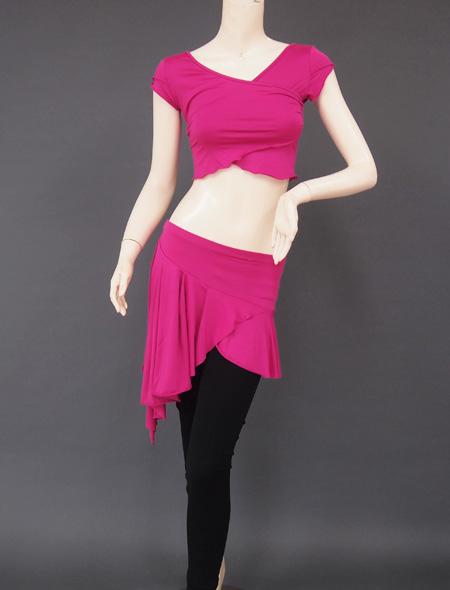 ピンクパープルレッスンウェア1 ミラーナベリーダンス衣装