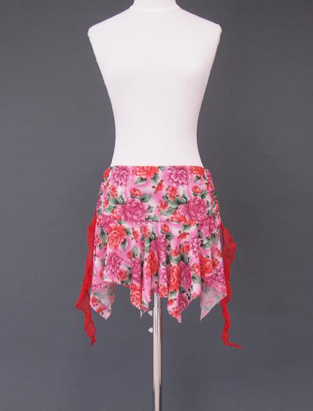 ピンク薔薇ヒップスカーフ4 ミラーナベリーダンス衣装