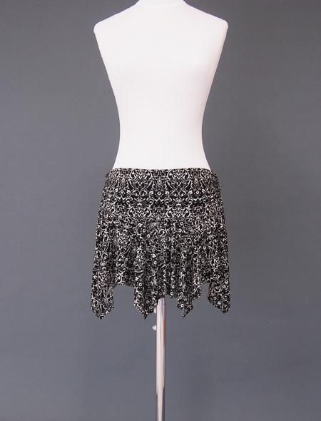 黒ダマスクヒップスカーフ4 ミラーナベリーダンス衣装