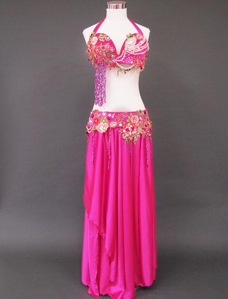 ピンク花ベリーダンス衣装1 MiLLANA