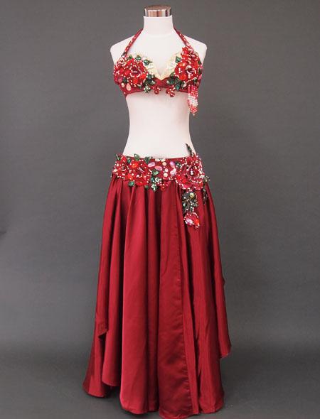 赤薔薇ベリーダンス衣装1 ミラーナ