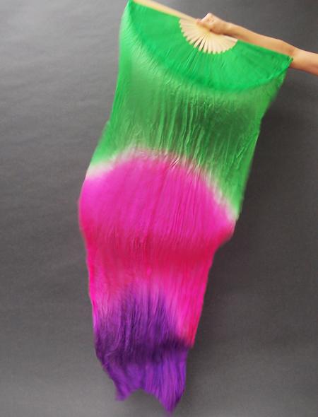 ファンベール グリーンピンク紫 ミラーナベリーダンス衣装