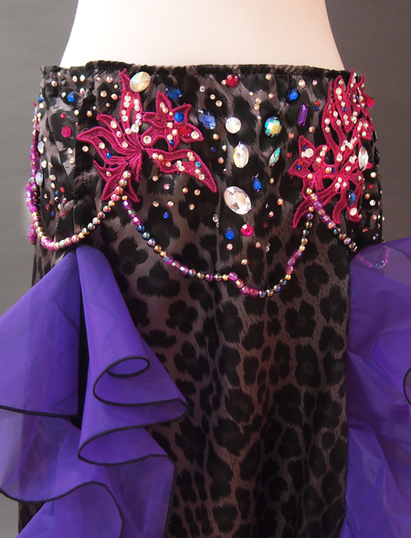 黒ヒョウ衣装4 ミラーナベリーダンス衣装