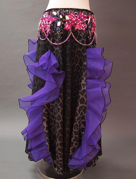 黒ヒョウ衣装7 ミラーナベリーダンス衣装
