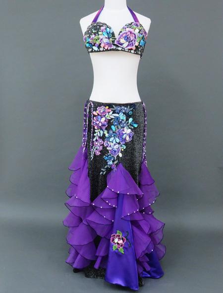 紫×黒衣装