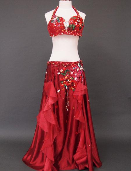 赤×薔薇フリルベリーダンス衣装1 ミラーナ