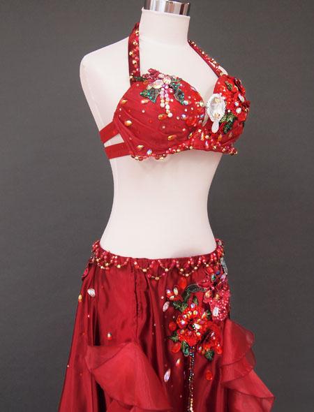 赤×薔薇フリルベリーダンス衣装5 ミラーナ