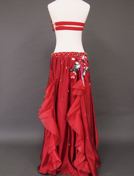 赤×薔薇フリルベリーダンス衣装6 ミラーナ