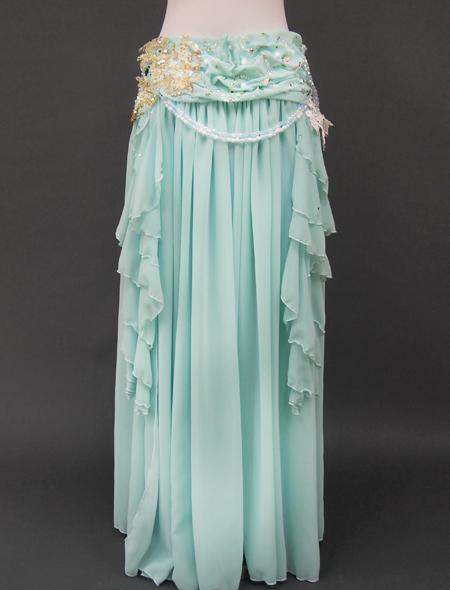 ミントグリーン衣装3 ミラーナベリーダンス衣装