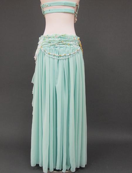 ミントグリーン衣装 ミラーナベリーダンス衣装 8