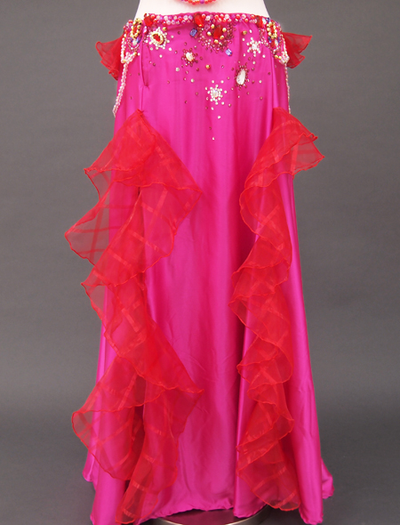 ピンク赤コサージュ衣装3 ミラーナベリーダンス