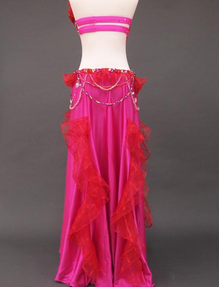 ピンク赤コサージュ衣装8 ミラーナベリーダンス