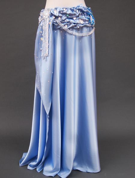 光沢ブルー衣装3 ミラーナベリーダンス