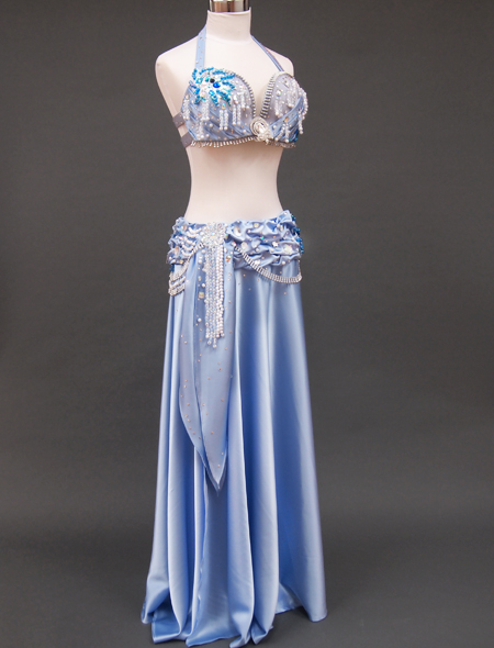光沢ブルー衣装2 ミラーナベリーダンス