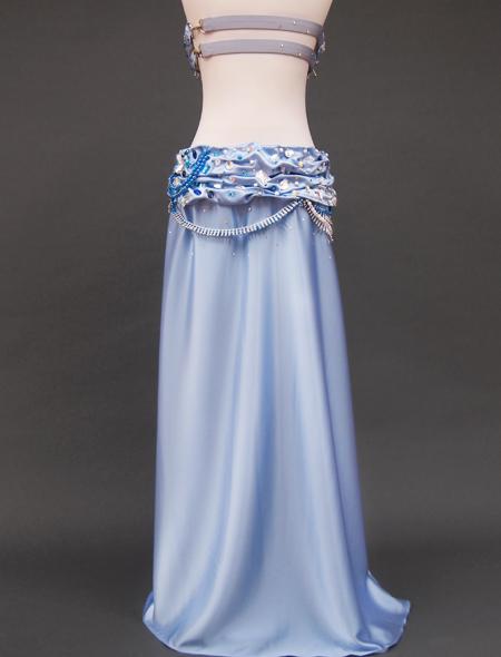光沢ブルー衣装9 ミラーナベリーダンス