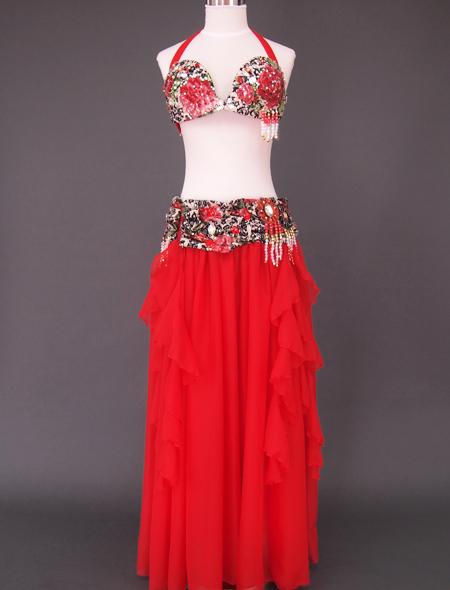 赤ばら衣装 ミラーナベリーダンス衣装2