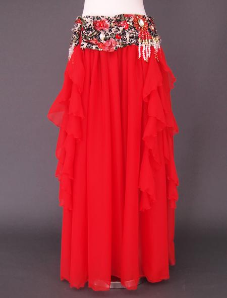 赤ばら衣装3 ミラーナベリーダンス衣装
