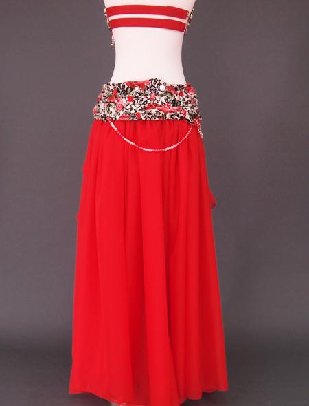 赤ばら衣装8 ミラーナベリーダンス衣装