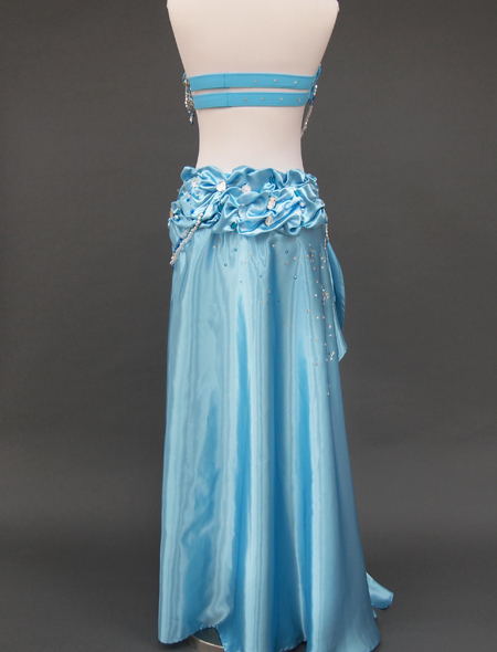 薄いブルーのベリーダンス衣装6 ミラーナ