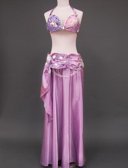 ピンクパープルベリーダンス衣装2 ミラーナ