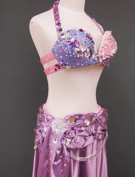 ピンクパープルベリーダンス衣装5 ミラーナ