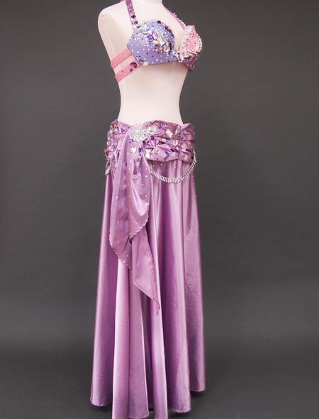 ピンクパープルベリーダンス衣装7 ミラーナ