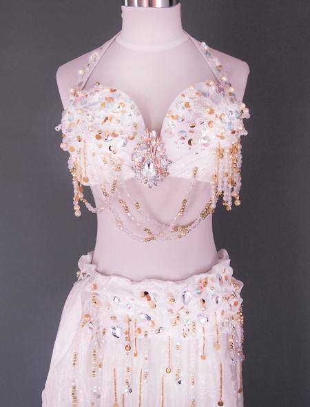 ホワイトベリーダンス衣装2 ミラーナ