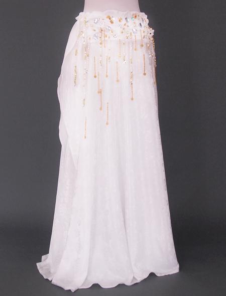 ホワイトベリーダンス衣装3 ミラーナ