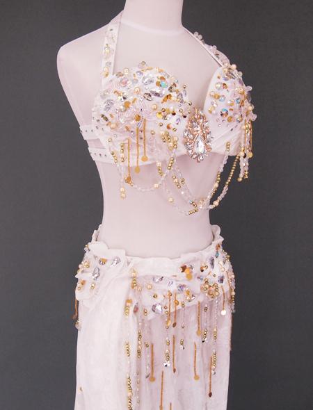 ホワイトベリーダンス衣装5 ミラーナ