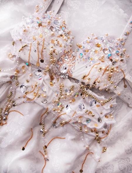 ホワイトベリーダンス衣装7 ミラーナ