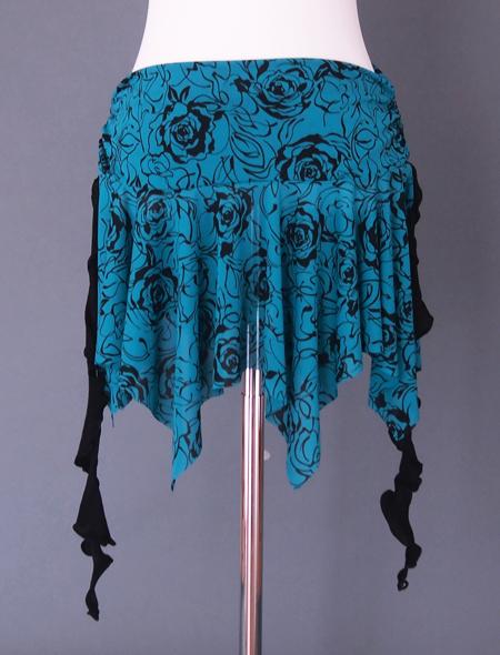 深いグリーンのヒップスカーフ2 ミラーナベリーダンス衣装