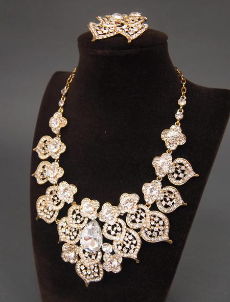花モチーフアラビック装飾なアクセサリーセット3 ミラーナベリーダンス衣装