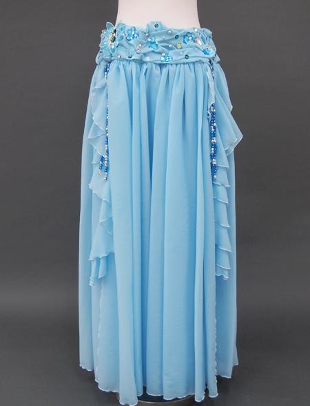 ブルー花のベリーダンス衣装3 ミラーナ