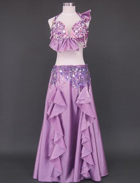 ピンクパープル ベリーダンス衣装1 ミラーナ